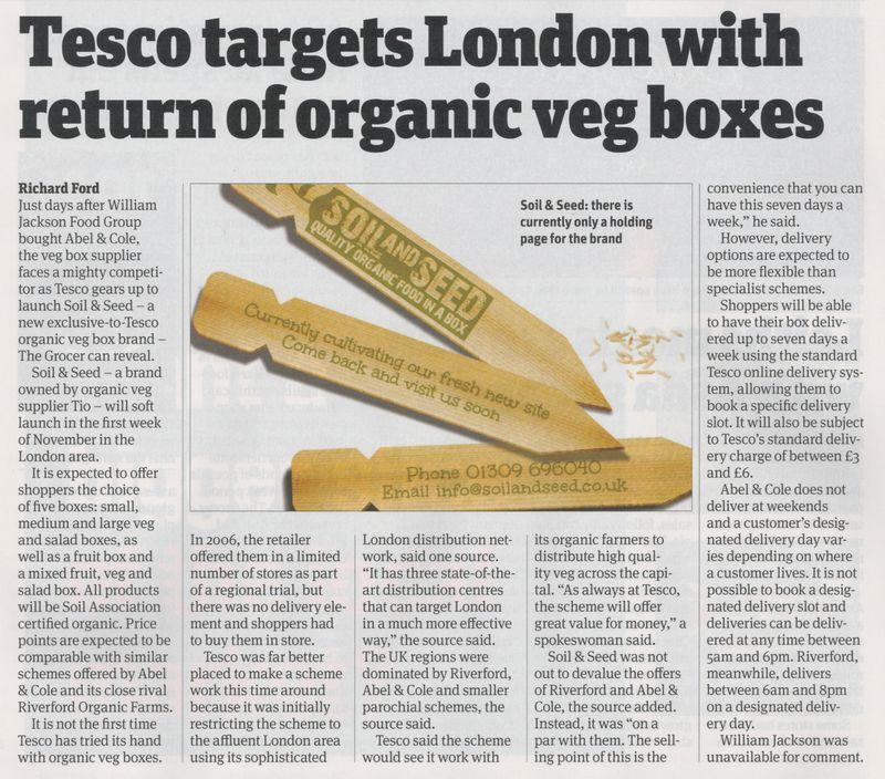 Tesco Organic Veg Box scheme