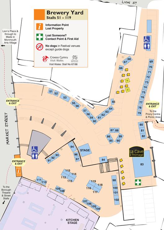 Abergavenny Site Map